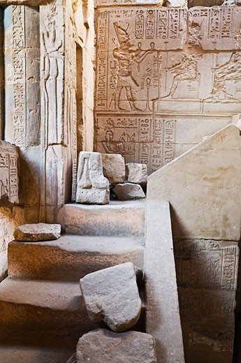 Stock Photo: 1828R-42781 Temple, Deir al-Medina, West Bank, Luxor, Egypt