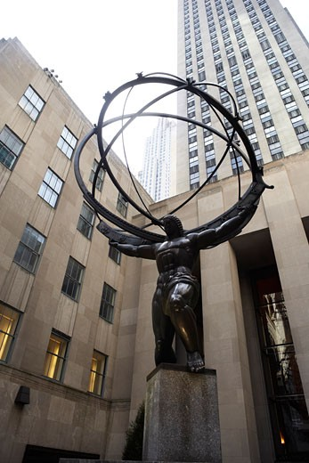 Rockefeller Centre, New York City, New York, USA    : Stock Photo