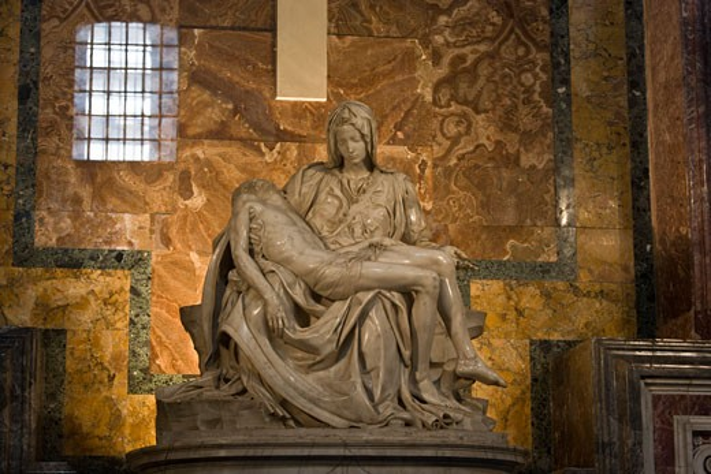 Stock Photo: 1828R-43307 Pieta, St Peter's Basilica, Vatican City, Rome, Latium, Italy