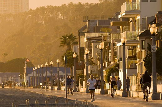 Stock Photo: 1828R-43433 Boardwalk, Santa Monica, Los Angeles, California, USA