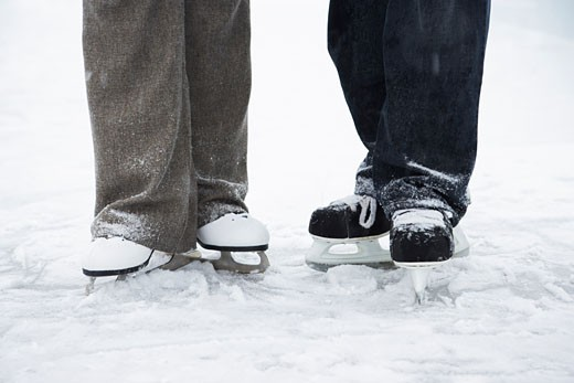 Couple on Skates    : Stock Photo