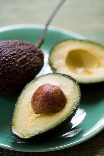 Stock Photo: 1828R-44753 Sliced Avocado