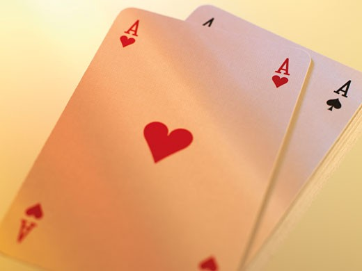 Two Ace Playing Cards    : Stock Photo