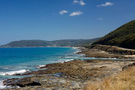 Overview of Shoreline, Bass Strait, Victoria, Australia    : Stock Photo