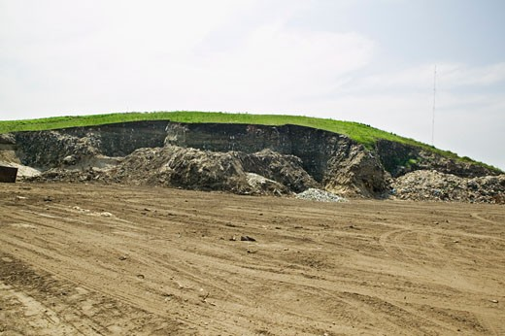 Stock Photo: 1828R-45751 Dune of Waste Materials, Nantucket, Massachusetts, USA