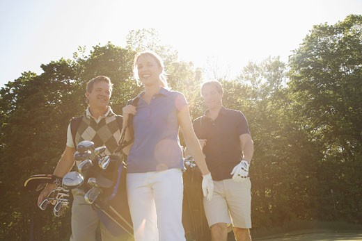 People Golfing    : Stock Photo