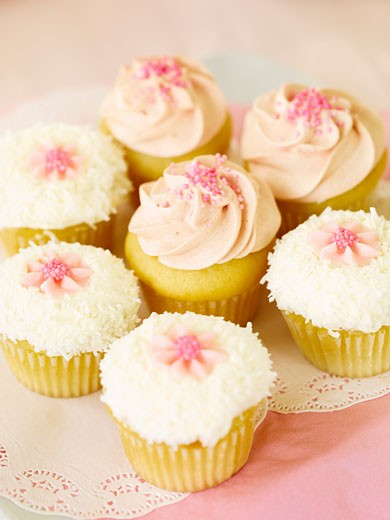 Plate of Cupcakes    : Stock Photo