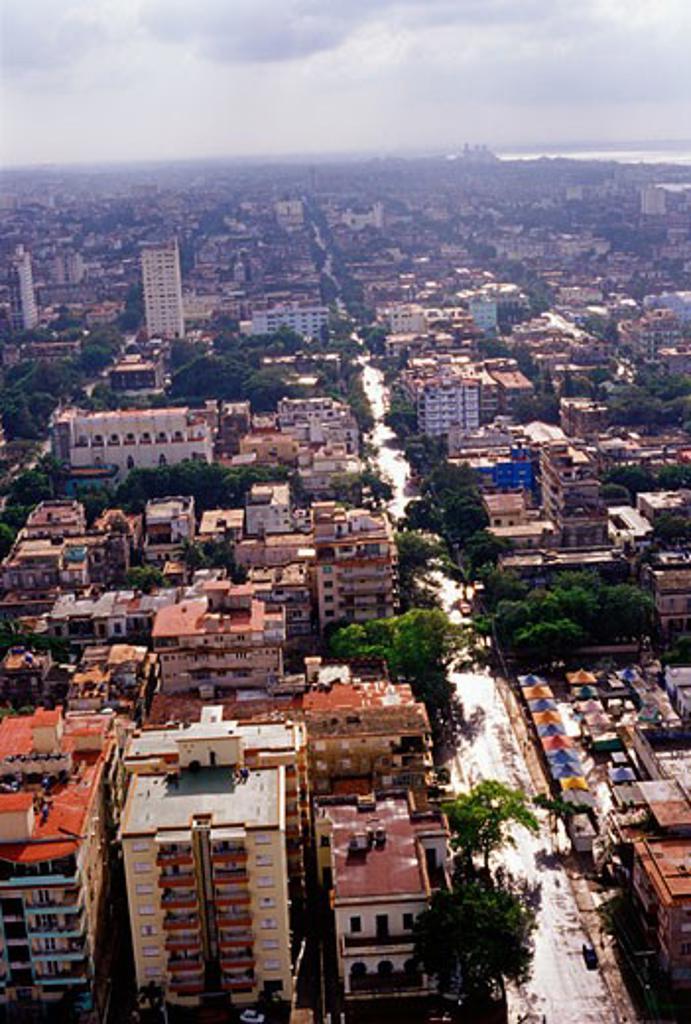 Stock Photo: 1828R-46500 Aerial View of Havana, Cuba