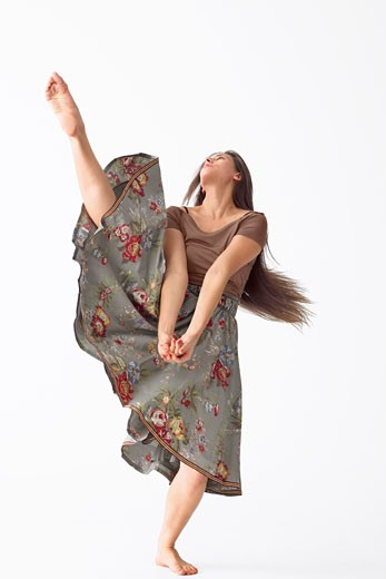 Stock Photo: 1828R-47205 Portrait of Dancer