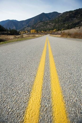 Close-up View of Road near Keremeos, Okanagan, British Columbia, Canada    : Stock Photo