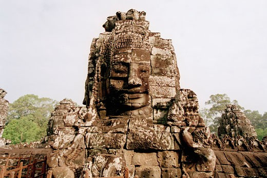 Stock Photo: 1828R-48012 Stone Sculptures, Angkor Wat, Siem Reap, Cambodia