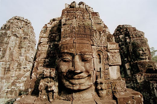 Stock Photo: 1828R-48014 Stone Sculptures, Angkor Wat, Siem Reap, Cambodia