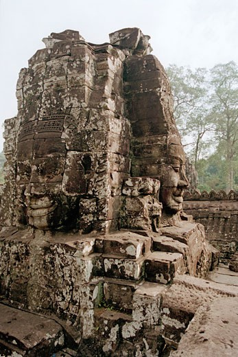 Stock Photo: 1828R-48015 Stone Sculptures, Angkor Wat, Siem Reap, Cambodia