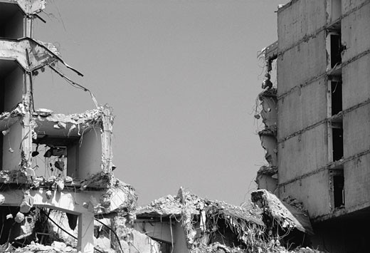 Building Demolition, Berlin, Germany    : Stock Photo