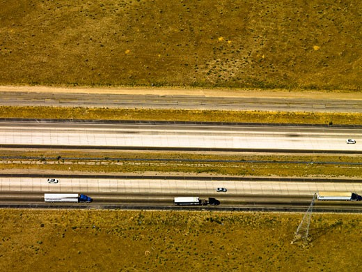 Stock Photo: 1828R-48265 Aerial View of Interstate 5, Southern California, California, USA