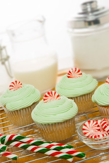 Stock Photo: 1828R-49808 Baking Cupcakes