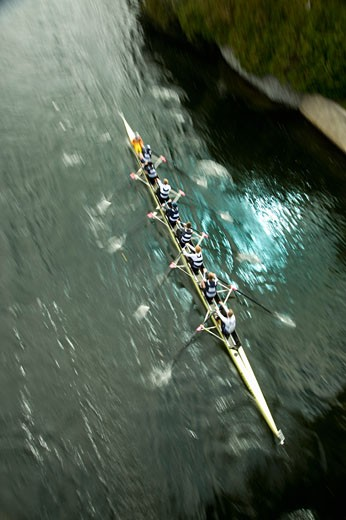 Stock Photo: 1828R-50050 Head of the Trent Regatta on the Trent Canal, Peterborough, Ontario, Canada
