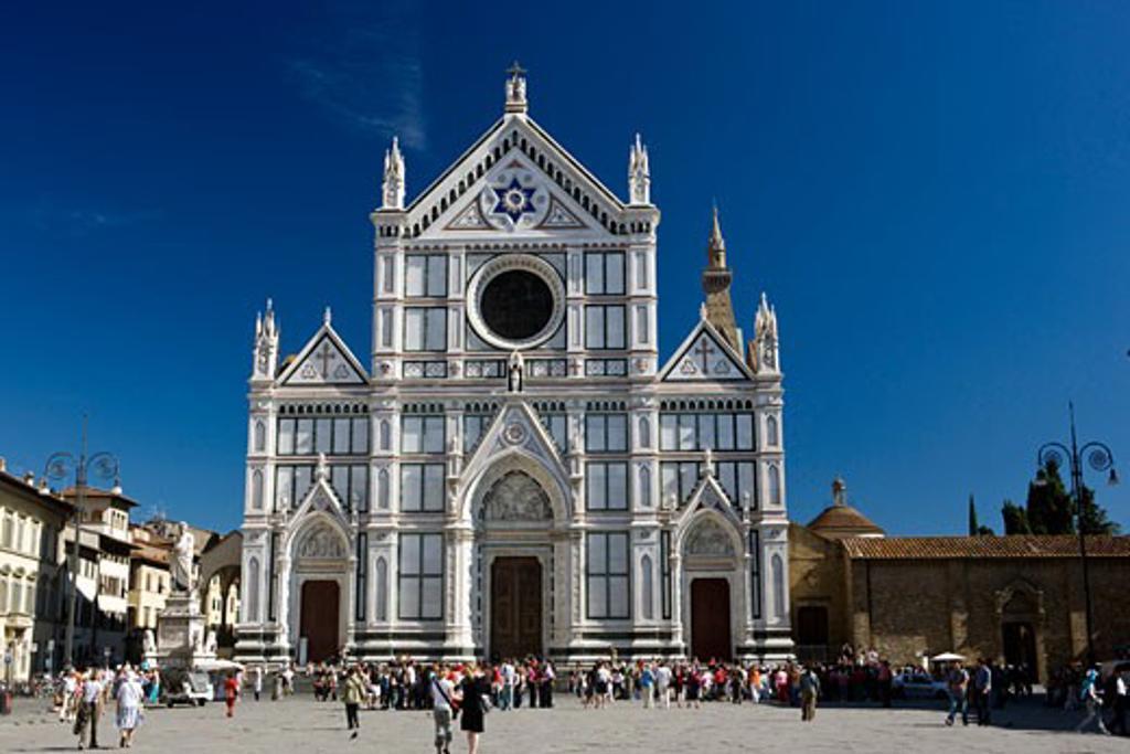 Stock Photo: 1828R-50086 Basilica di Santa Croce, Florence, Tuscany, Italy