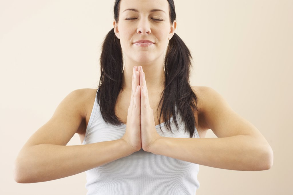 Stock Photo: 1828R-50372 Woman Praying