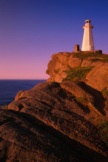 Lighthouse, Cape Spear National Historic Site Newfoundland, Canada    : Stock Photo