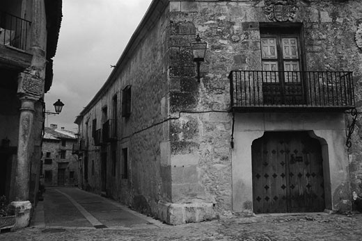 Stock Photo: 1828R-5098 Buildings and Street, Pedraza, Spain