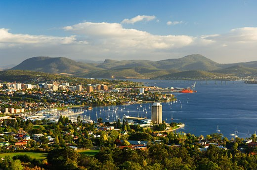 Stock Photo: 1828R-51091 Derwent River, Hobart, Tasmania, Australia