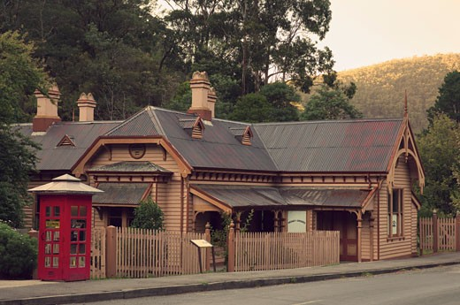 Stock Photo: 1828R-51118 Old Post Office, Walhalla, Victoria, Australia