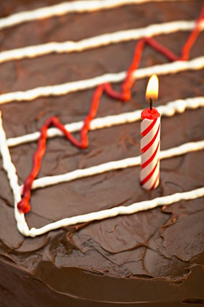 Graph on Birthday Cake    : Stock Photo