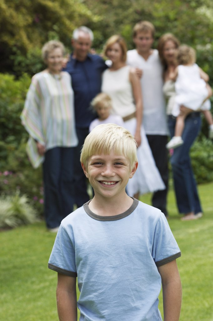 Stock Photo: 1828R-51569 Portrait of Boy with Family