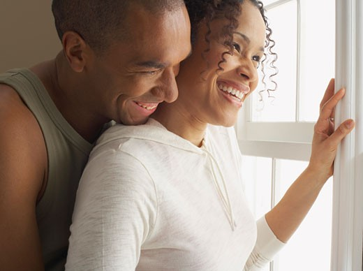 Portrait of Couple Laughing    : Stock Photo