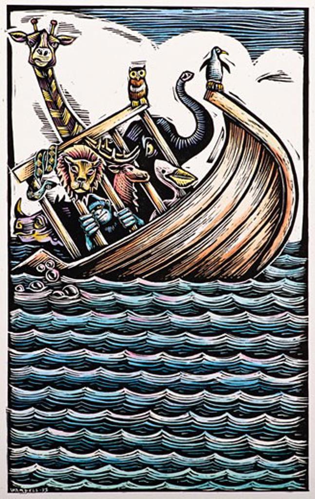 Illustration of Noah's Ark    : Stock Photo