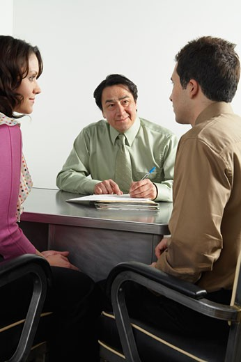 Stock Photo: 1828R-53784 Business People in Office