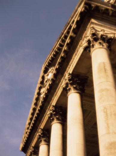 Stock Photo: 1828R-5395 Looking Up at Columns, London, England