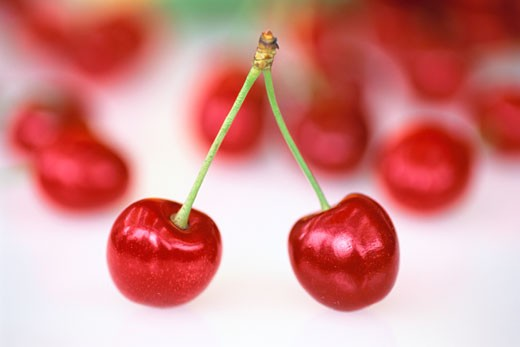 Stock Photo: 1828R-54595 Close-Up of Cherries