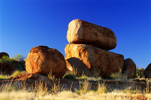 Stock Photo: 1828R-54636 Devil's Marbles, Northern Territory, Australia
