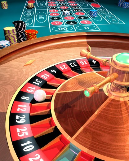 Stock Photo: 1828R-55243 Roulette Wheel