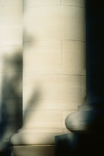 Stock Photo: 1828R-5551 Close-Up of Column at City Hall, Kingston, Ontario, Canada
