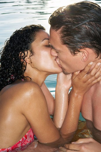Couple Kissing    : Stock Photo