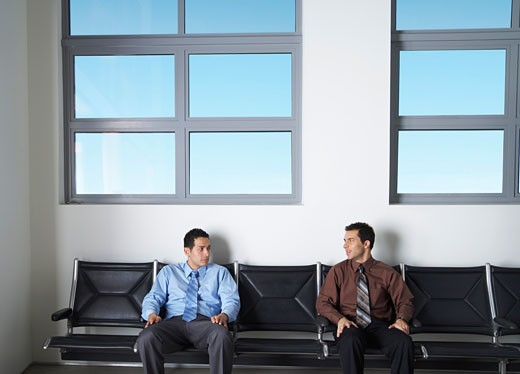 Stock Photo: 1828R-55673 Businessmen in Waiting Area