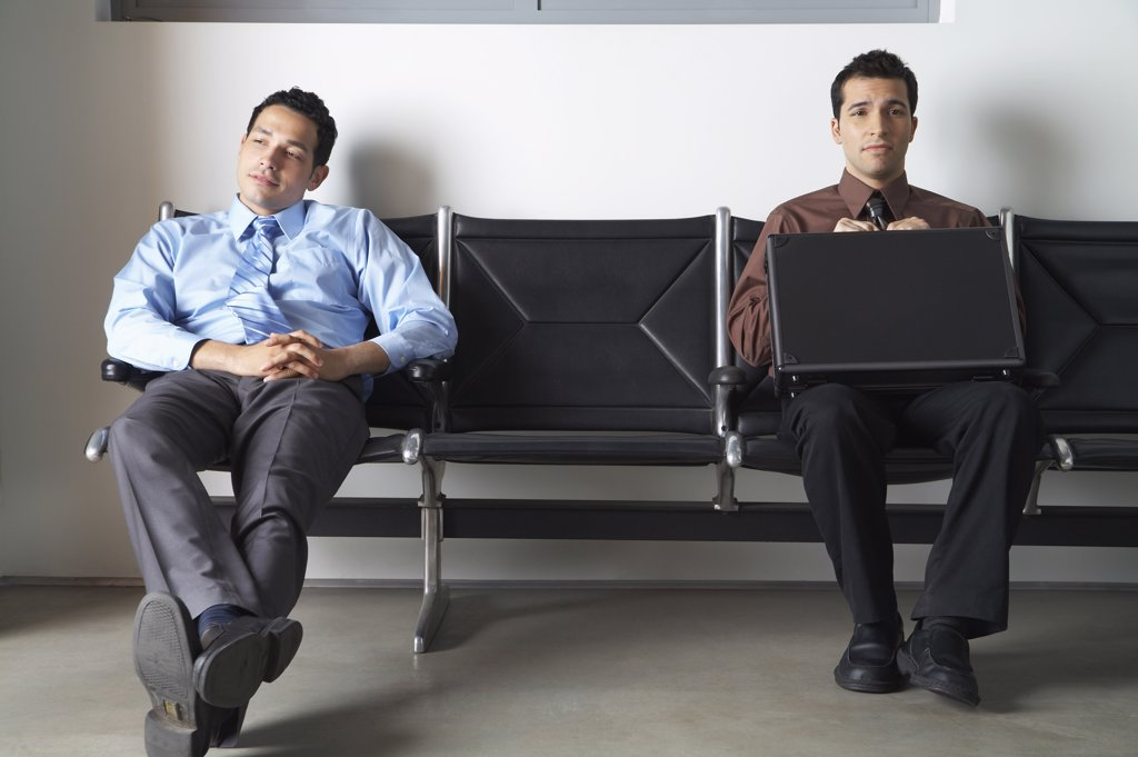 Stock Photo: 1828R-55679 Businessmen in Waiting Area