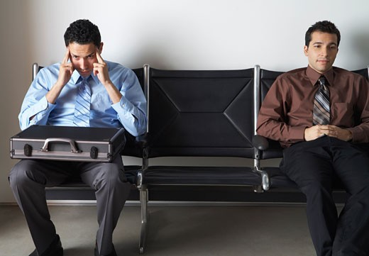 Stock Photo: 1828R-55680 Businessmen in Waiting Area