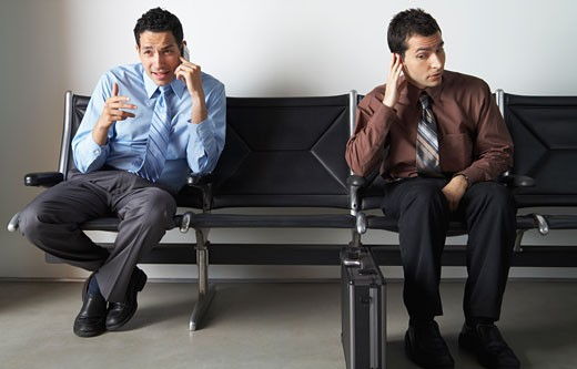 Stock Photo: 1828R-55683 Businessmen in Waiting Area