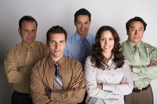 Stock Photo: 1828R-55712 Portrait of Business Team