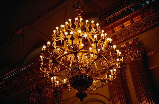 Stock Photo: 1828R-55811 Chandelier in The Hermitage, Leningrad, Russia