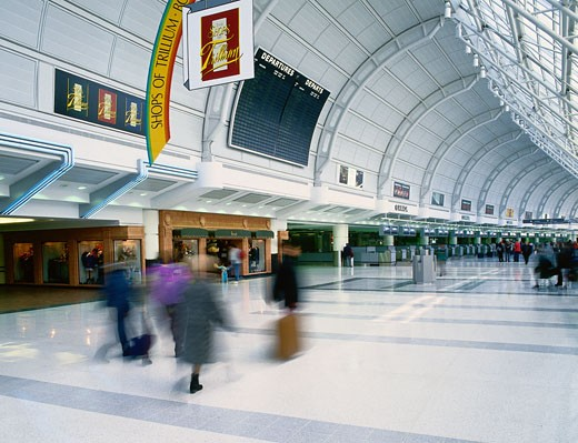 Terminal 3 Departures Level, Pearson International Airport, Toronto, Ontario, Canada    : Stock Photo