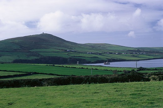 Stock Photo: 1828R-5604 Overview of Landscape and Water, Dingle Peninsula, Ireland