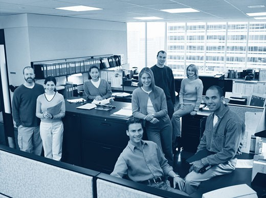 Stock Photo: 1828R-56423 Business People in Office