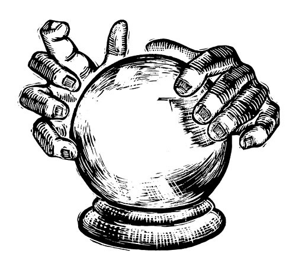 Stock Photo: 1828R-56446 Illustration of Crystal Ball