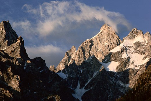 Grand Teton, Teton Mountains, Wyoming, USA    : Stock Photo