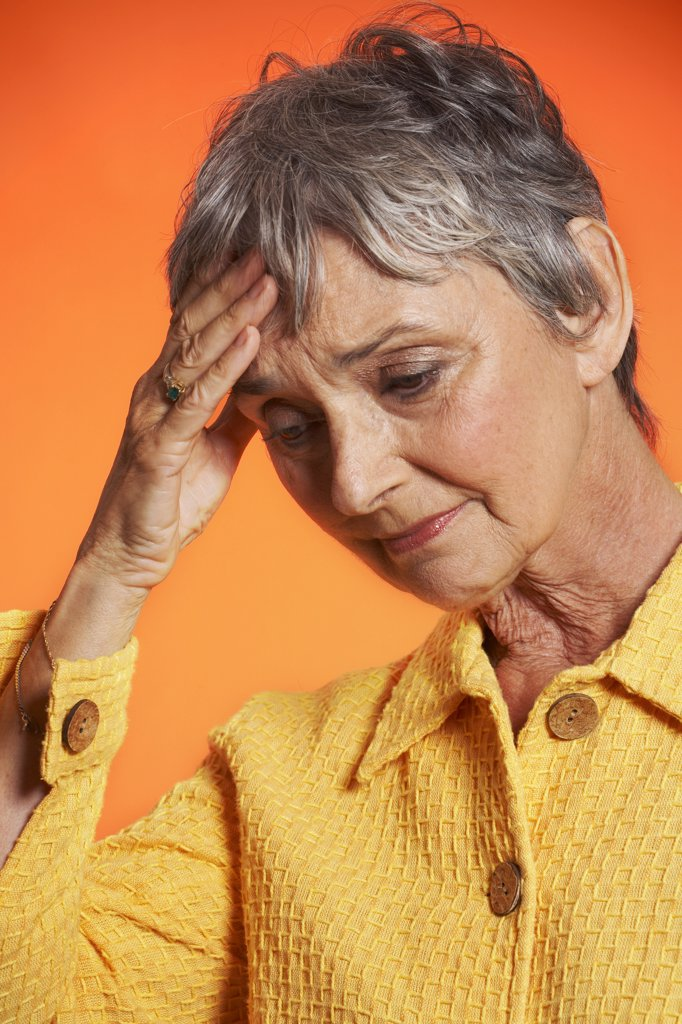 Stock Photo: 1828R-57585 Woman Looking Worried